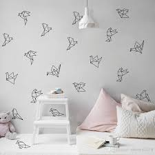Free Shippingeometric Origami Birds Wall Decals Nursery Art Decor Geometric Flying Birds Vinyl Wall Stickers Living Room Modern Wall Decor Vinyl Wall Stickers Vinyl Wall Stickers Decals From Shouya2018 15 91 Dhgate Com