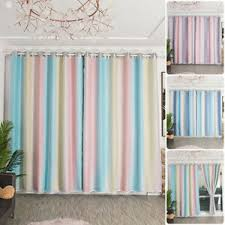 2 Layer Stars Tulle Blackout Curtains Gradient Room Starry Girl Kids Bedroom Ebay