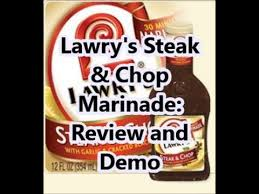 cooking lawry s steak chop marinade