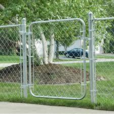 Mtb 4 Ft H X 2 5 Ft W Galvanized Chain Link Garden Walking Fence Metal Gate Reviews Wayfair
