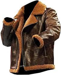 er brown fur leather jacket
