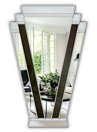 handcrafted art deco fan wall mirror