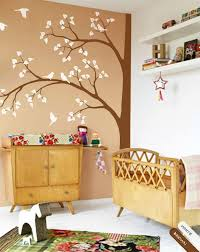 Large Corner Brown Tree With Birds Wall Sticker Vinyl Decal Art Decor Walldecaldesigns