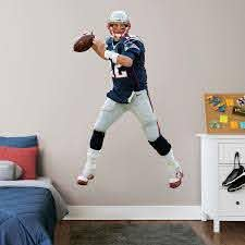 Fathead Tom Brady New England Patriots 3 Pack Life Size Removable Wall Decal