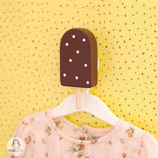 Cute Wooden Ice Cream Kids Hanger Decorative Wall Coat Hook Etsy In 2020 Kids Hangers Kids Coat Rack Coat Hooks On Wall