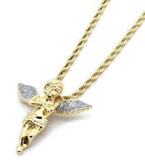 mens gold tone silver stardust long