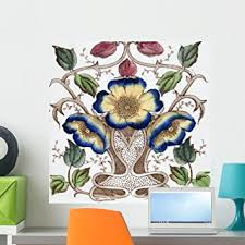 Amazon Com Wallmonkeys An Art Nouveau Tile Dating Around 1890 With Flower Design Wall Decal Peel And Stick Graphic Wm354042 24 In W X 24 In H Home Kitchen