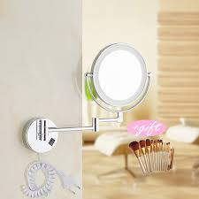 wall mounted round magnifying mirror