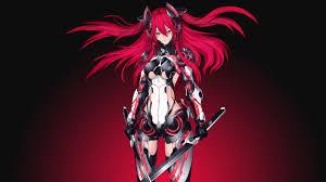 mecha red warrior katana 4k