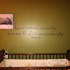 Psalm 4 8 Vinyl Wall Decal By Wild Eyes Signs In Peace I Will Lie Down