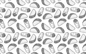 monogram wallpaper of tacos and