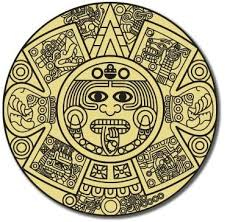 Amazon Com Ak Wall Art Aztec Calendar Vinyl Sticker Car Window Bumper Laptop Select Size Home Kitchen