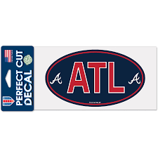 Atlanta Braves Wincraft 4 X 8 Perfect Cut Decal