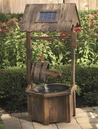 solar wishing well fountain from