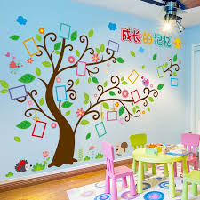 Family Tree Wall Stickers Diy Photo Frame Wall Decals For Kids Rooms Baby Bedroom Nursery Home Decoration Wall Stickers Aliexpress