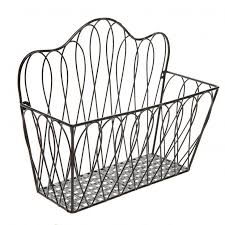 round coffee table wire basket storage