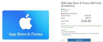ed itunes gift cards at costco