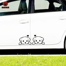 Cartoon Puppy Dog 520 Couple Car Sticker Body Sticker Door Sewing Car Sticker Car Sticker Scratch
