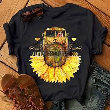 A Little Hippie A Little Hood Hippie T Shirt Hippie Life Shirt Inst By Lupinart Thehungryjpeg Com