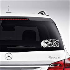 Amazon Com Aampco Decals Catfish Hunter Fish Fishing Car Truck Motorcycle Windows Bumper Wall Decor Vinyl Decal Sticker Size 6 Inch 15 Cm Wide Color Matte White