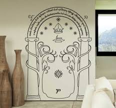 The Doors Of Durin Wall Sticker Tenstickers
