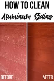 how to clean aluminum siding the