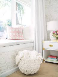 Kids Room Window Seat With Curtains Transitional Girl S Room