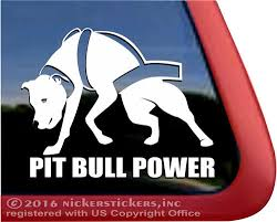 Weight Pulling Pit Bull Dog Decals Stickers Nickerstickers