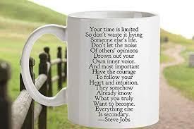 com dozili steve jobs quote coffee mug grad gift time is