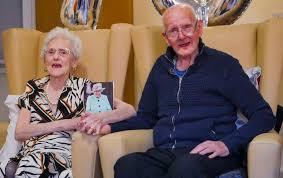 Collis and Hilda celebrate their platinum wedding anniversary ...