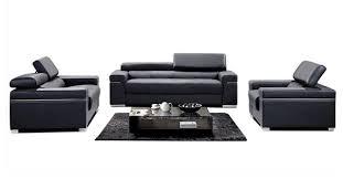 soho leather sofa set black
