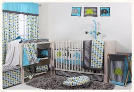 elephants aqua lime grey 10 pc crib set