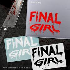 Final Girl Vinyl Decal Available In 3 Colors Carben Design Studio