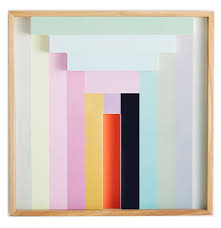 margo selby colorblock lacquer wall art