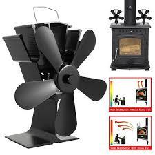 fan for wood log burner fireplace fuel