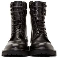 leather high combat boots