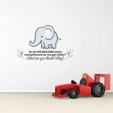 Zoomie Kids Get Old Elephant Vinyl Wall Decal Wayfair