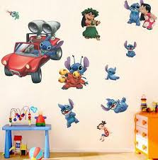 New Lilo Stitch Removable Wall Stickers Decal Kids Room Home Decor Us Seller 7 86 Picclick