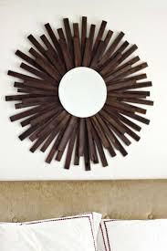 wood shim starburst mirror freakin