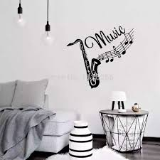 Music Vinyl Wall Art Saxophone Wall Stickers Home Wall Decals Living Room Bedroom Decoration Wall Stickers Aliexpress