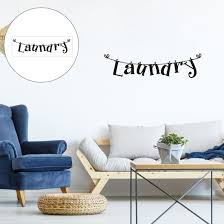 Shop Laundry Quote Wall Sticker Removable Pvc Art Decals Home Bathroom Office Decor Black Overstock 29186820