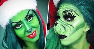 people are doing the grinch makeup