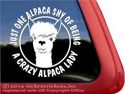Alpaca Decals Stickers Nickerstickers