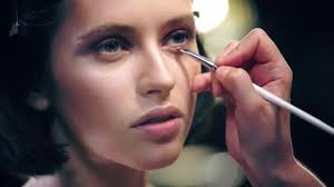 partial view makeup artist shading