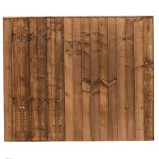 Pressure Treated Brown Double Sided Close Board Fencing Panel Fencing