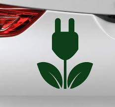 Electric And Ecological Icon Car Sticker Tenstickers