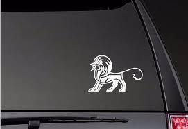 Aztec Lion Car Decals Art Stickers Bumper Car Window New Design Zp0397 Car Stickers Aliexpress