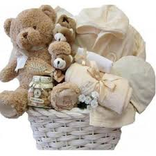 organic newborn baby gift baskets in
