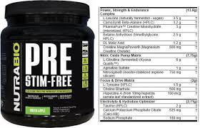 best stimulant free pre workouts zero