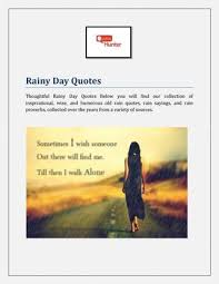thoughtful rainy day quotes by quoteshunter issuu